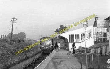 Dollar Railway Station Photo. Tillicoultry - Rumbling Bridge. Alloa Line. (2)