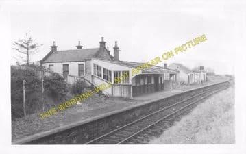 Dollar Railway Station Photo. Tillicoultry - Rumbling Bridge. Alloa Line. (4)