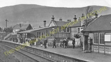 Dollar Railway Station Photo. Tillicoultry - Rumbling Bridge. Alloa Line. (5).