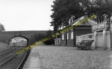 Dolphinton Railway Station Photo. Dunsyre - Broomlee. Caledonian Railway. (1)..