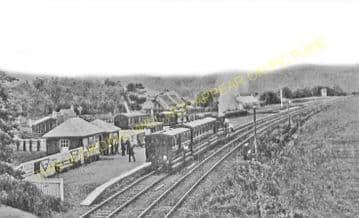 Dolphinton Railway Station Photo. Dunsyre - Broomlee. Caledonian Railway. (2)