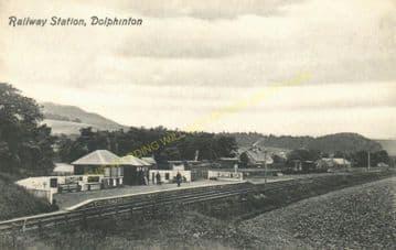 Dolphinton Railway Station Photo. Dunsyre - Broomlee. Caledonian Railway. (3)