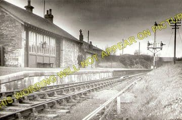 Drongan Railway Station Photo. Ochiltree - Trabboch. Annbank Line. G&SWR. (1)