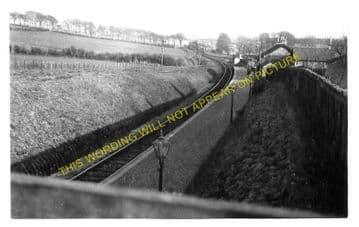 Drongan Railway Station Photo. Ochiltree - Trabboch. Annbank Line. G&SWR. (2)