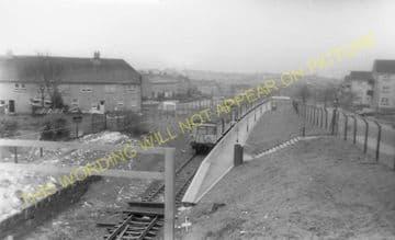 Drumgelloch Railway Station Photo. Clarkston - Airdrie. Plains Line. (1).