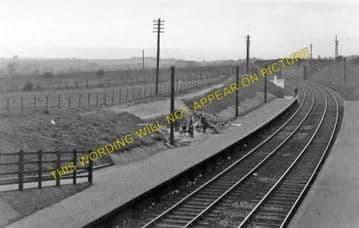 Drumpark Railway Station Photo. Kirkwood - Baillieston. Coatbridge Line. (1)