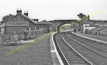 Drybridge Railway Station Photo. Barassie - Gatehead. Kilmarnock Line. (1)..