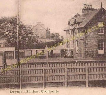Drymen Railway Station Photo. Gartness - Caldavan. Balloch Line. NBR. (2)