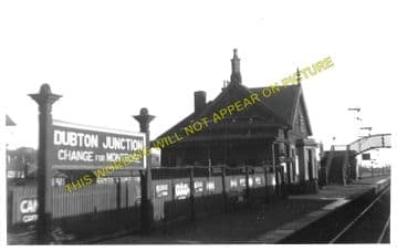 Dubton Junction Railway Station Photo. Montrose -Bridge of Dun. (1)