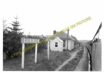 Duirnish Railway Station Photo. Kyle of Lochalsh- Plockton. Highland Railway (1)
