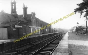 Dullingham Railway Station Photo. Newmarket - Six Mile Bottom. (4)