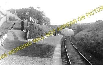 Dumfries House Railway Station Photo. Cumnock - Skares. Cronberry Line. (1)..