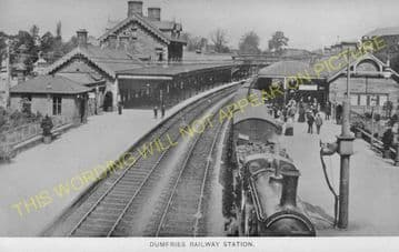 Dumfries Railway Station Photo. Glasgow & South Western Railway (7)