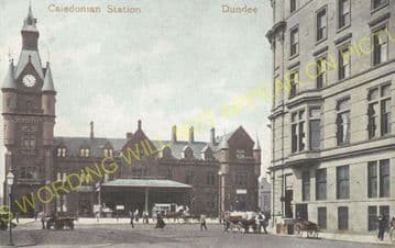 Dundee West Railway Station Photo. Caledonian Railway. (7)
