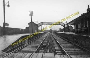 Dunragit Railway Station Photo. Glenluce - Castle Kennedy. Portpatrick Line. (1)
