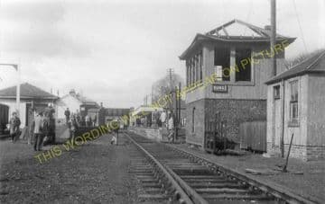 Duns Railway Station Photo. Marchmont - Edrom. St. Boswells to Reston Line. (3)