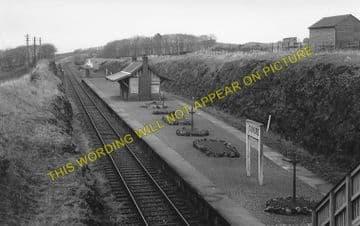 Dunure Railway Station Photo. Heads of Ayr - Knoweside. Ayr to Girvan Line. (1)