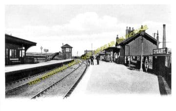 Dysart Railway Station Photo. Thornton Junction - Sinclairtown. (1)..