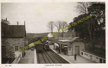 Earlston Railway Station Photo. St. Boswells - Gordon. Greenlaw Line. (1)..