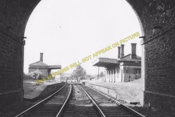 East Norton Railway Station Photo. Hallaton - Tilton. Market Harborough Line (5)