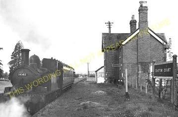 Easton Court Railway Station Photo. Woofferton - Tenbury Wells. GWR + L&NWR. (2)
