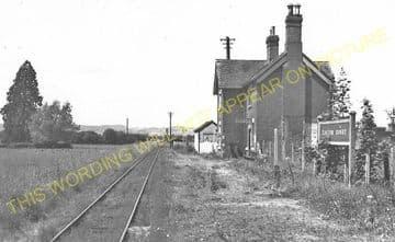 Easton Court Railway Station Photo. Woofferton - Tenbury Wells. GWR + L&NWR. (6)