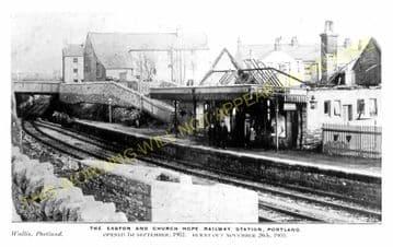 Easton Railway Station Photo. Portland and Weymouth Line. GWR & LSWR. (2)