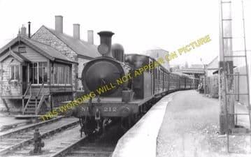 Easton Railway Station Photo. Portland and Weymouth Line. GWR & LSWR. (8)
