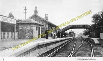 Eddleston Railway Station Photo. Peebles - Leadburn. North British Railway. (1)