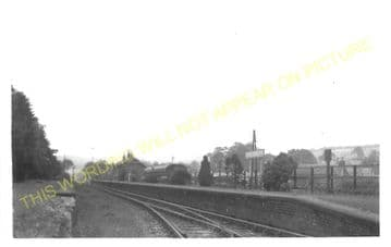 Eddleston Railway Station Photo. Peebles - Leadburn. North British Railway. (2)