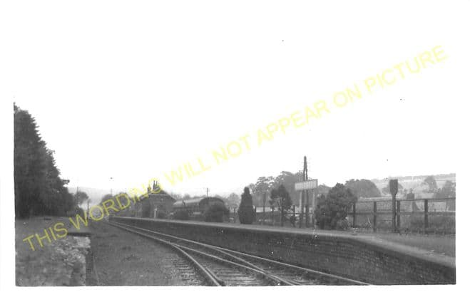 Eddleston Railway Station Photo. Peebles - Leadburn. North British Railway. (2)