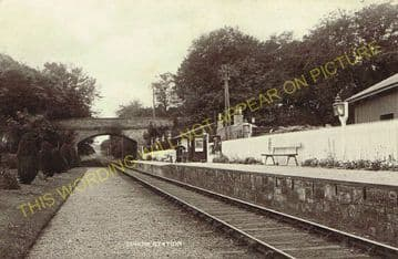 Edrom Railway Station Photo. Chirnside - Duns. Reston to Marchmont Line. (2).