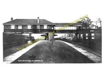 Elderslie Railway Station Photo. Johnstone - Ferguslie. Paisley Line. G&SWR. (1)..