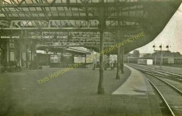 Elgin East Railway Station Photo. Lossiemouth and Calcots Line. GNSR. (12)