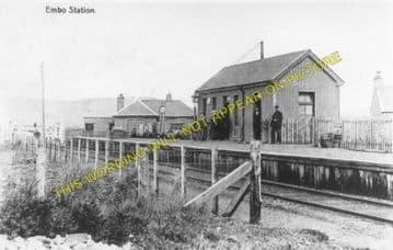 Embo Railway Station Photo. Dornoch - Skelbo. The Mound Line. Highland Rly. (1)