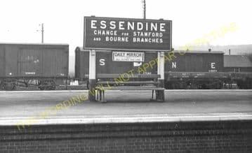 Essendine Railway Station Photo. Tallington - Little Bytham. (5)