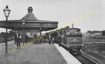 Falkirk Camelon Railway Station Photo. Larbert - Polmont. Manuel Line. (2)