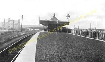Falkirk Camelon Railway Station Photo. Larbert - Polmont. Manuel Line. (3)