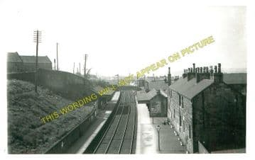 Falkirk High Railwy Station Photo. Polmont - Greenhill. Castlecary Line. (1)..