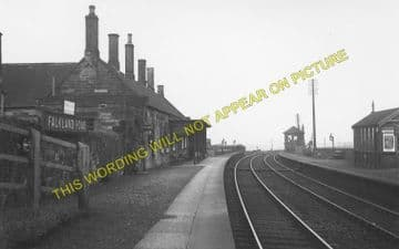 Falkland Road Railway Station Photo. Markinch - Kingskettle. Ladybank Line. (1)..