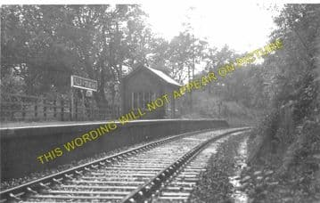 Falls of Cruachan Railway Station Photo. Loch Awe - Taynuilt. Caledonian Rly (3)