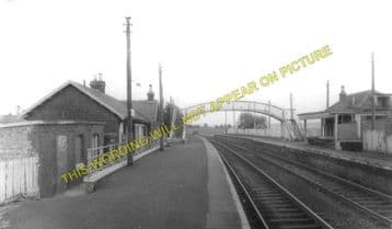 Fauldhouse North Railway Station Photo. Breich - Shotts. Caledonian Railway. (3).