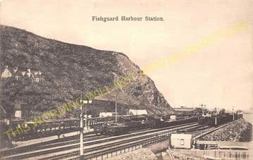 Fishguard Harbour Railway Station Photo. Whitland Line. Great Western Rly. (24).
