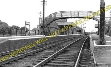 Fordham Railway Station Photo. Newmarket to Soham and Mildenhall Lines. (1)..