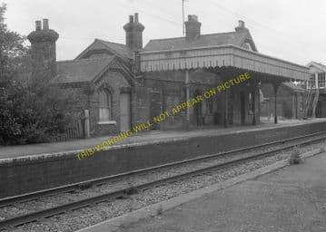 Fordham Railway Station Photo. Newmarket to Soham and Mildenhall Lines. (14)