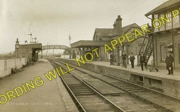 Fordham Railway Station Photo. Newmarket to Soham and Mildenhall Lines. (15)