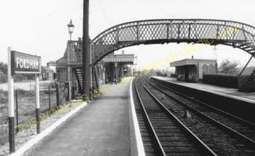 Fordham Railway Station Photo. Newmarket to Soham and Mildenhall Lines. (17)