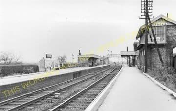 Fordham Railway Station Photo. Newmarket to Soham and Mildenhall Lines. (18)