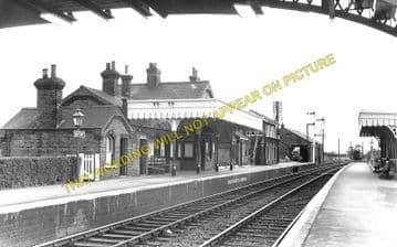 Fordham Railway Station Photo. Newmarket to Soham and Mildenhall Lines. (3)