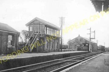 Fordham Railway Station Photo. Newmarket to Soham and Mildenhall Lines. (5)